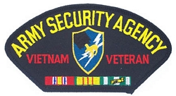 Army Security Agency Vietnam Veteran Patches